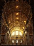 Inside St Peter's Basilica  Vatican City  Italy