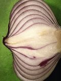 Close-Up of Half of a Red Onion