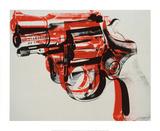 Gun  c1981-82 (black and red on white)