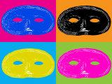 Four Mardi Gras  Halloween Mask