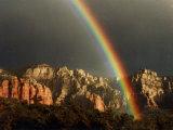 Rainbow over Crimson Cliffs  Sedona  Arizona  USA