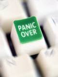 Computer Key Which Reads Panic Over