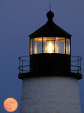 Rising Moon and the Pemaquid Lighthouse at Dusk
