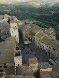 Square in Siena and the Tuscan Countryside Beyond