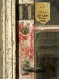 Door and Peeling Paint of Historic Building