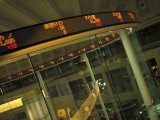 Electronic 'Ticker' at the All Digital the Tokyo Stock Exchange