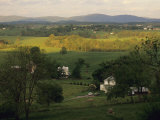 Scenic View of Farm Houses and Gentle Rolling Farm Land