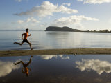 Man Running by the Water of Stump Bay