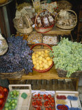 Fresh Fruit and Foods for Sale Outside a Siena Market