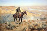 The Wagon Boss Giclée premium par Charles Marion Russell