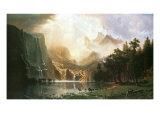 Sierra Nevada en Californie Giclée premium par Albert Bierstadt