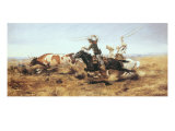OH Cowboys Roping a Steer