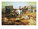 A Doubtful Visitor Giclée premium par Charles Marion Russell
