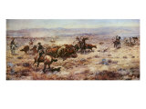 The Round-Up Giclée premium par Charles Marion Russell