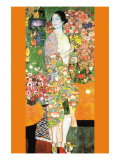 La danseuse Reproduction d'art par Gustav Klimt