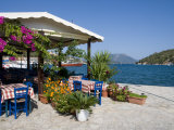 Taverna  Vathi  Meganisi  Ionian Islands  Greek Islands  Greece  Europe