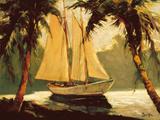 Voilier, Santa Barbara Reproduction d'art par Frederick Pawla