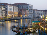 View from the Ponte Di Rialto Along the Grand Canal  San Polo District  Venice  Veneto  Italy