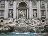 Trevi Fountain by Nicola Salvi Dating from the 17th Century  Rome  Lazio  Italy  Europe