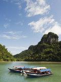 Colourful Boats  Langkawi Island  Kedah State  Malaysia  Southeast Asia  Asia