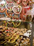Handpainted Pastries and Lebkucken  Christkindelsmarkt  Nuremberg  Bavaria  Germany