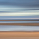 Abstract Image of the View from Alnmouth Beach to the North Sea  Alnmouth  England  UK
