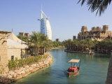 Madinat Jumeirah and Burj Al Arab Hotels  Jumeirah Beach  Dubai  United Arab Emirates  Middle East
