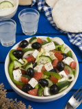 Greek Salad with Feta and Olives  Greek Food  Greece  Europe