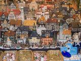 Ceramic Houses  Weihnachtsmarkt (Children's Christmas Market)  Nuremberg  Bavaria  Germany  Europe