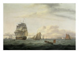 Shipping off Ramsgate Harbour  1807