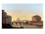 A View of Rome  with the Castel Sant'Angelo