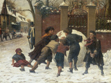 Playing in the Snow  1875