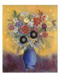 Fleurs dans un vase bleu (Flowers in a blue vase)