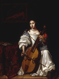 A Young Lady Playing a Violoncello