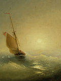 Sailing Barge at Sunset  1856