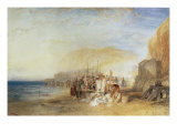 Hastings: Fish Market on the Sands  Early Morning  1824