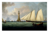 A Schooner of the Royal Yacht Squadron off the Eddystone Lighthouse  1831