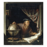 An Astronomer in his Study  1672