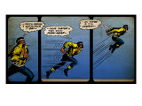 Marvel Comics Retro: Luke Cage  Hero for Hire Comic Panel  Running and Jumping (aged)