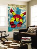 Marvel Comics Retro: The Invincible Iron Man Comic Panel  Swimming (aged)