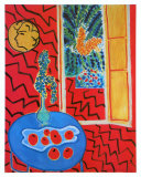 Red Interieur  Still Life on a Blue Table  c1947