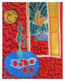 Red Interieur, Still Life on a Blue Table, c.1947 Reproduction d'art par Henri Matisse