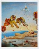 Gala and the Tigers, c.1944 Reproduction d'art par Salvador Dalí