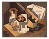 Guitare et Compotier sur une Table  c1918