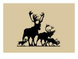 Elk Silhouette III