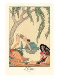 L'Eau Reproduction d'art par Georges Barbier