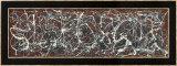 Nombre 13A: Arabesque|Number 13A: Arabesque Reproduction encadrée par Jackson Pollock