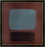 No 37 / No 19 (Slate Blue and Brown on Plum)  1958