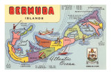 Map of Bermuda Islands