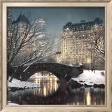 Crépuscule à Central Park Reproduction encadrée par Rod Chase